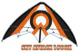 Sport stunt sárkány SKY ATTACK 150GX  - 150 x 65 cm