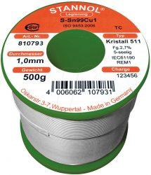 Solder tin SN99CU1 RoHS - 1,0 x 1000 mm