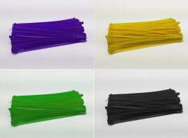 Kábelkötegelő 3 x 150mm - változatos színekben - 4db
