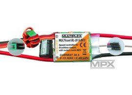 MULTIcont BL-20 S-BEC, 20A, 2-4 Lipo, brushless szabályzó - Multiplex