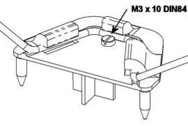 FunMan FunCub MiniMag  futómű tartó + csavarok Multiplex