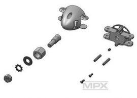Xeno orrkúp d 35mm + tengely adapter 4,0 mm szett Multiplex