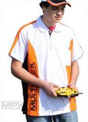 Poló Multiplex fehér fekete narancssárga - Multiplex - M -> XXL