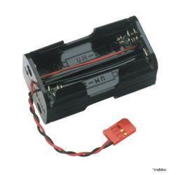 Akku/elem tartó doboz (4 x AA) kábellel - Servo csatlakozóval