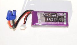 Top Fuel Lipo 2s 900 mAh 25C Hacker