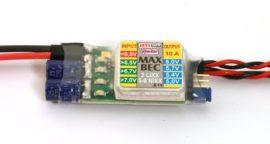 MAX BEC - 2s Lixx -> 5,0-7,0V max. 10A 28g - Jeti