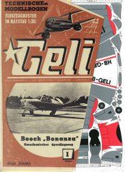 Beech Bonanza papír repülő Geli