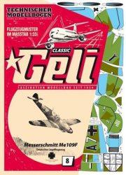 Messerschmitt Me 109 papír repülő Geli