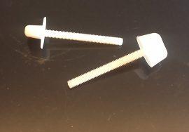Műanyag szárnyas csavar  M4/M5/M6 - 1 db