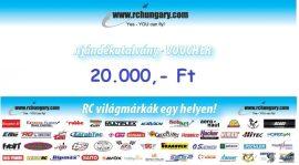 Ajándékutalvány - 20.000 Forint